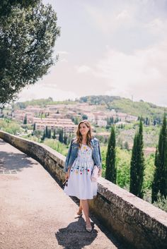 Gal Meets Glam Montalcino - Vivetta dress and Madewell jacket