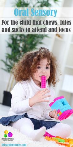 """Oral Sensory: """"Awakening"""" Oral Sensory Receptors for Chewers, Biters and Suckers - Integrated Learning Strategies Autism Sensory, Sensory Toys, Sensory Activities, Infant Activities, Activities For Kids, Oral Motor Activities, Autism Activities, Preschool Ideas, Sensory Diet"""