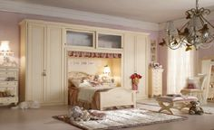 toddler girl room. Storage and valences!