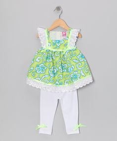 This Green Hawaiian Tunic & Leggings - Infant by Lele for Kids is perfect! #zulilyfinds
