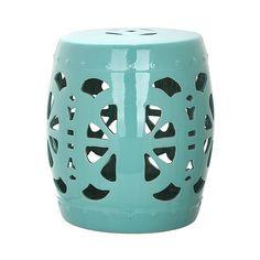 Patio Stool: Safavieh Bilboa Garden Stool: Blue ($125) ❤ Liked On Polyvore