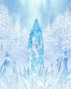 Anime OVA Re:Zero - Starting Life in Another World: Hyoketsu no Kizuna (Freezing Bond) Art Anime, Anime Art Girl, Manga Anime, Fantasy Art Landscapes, Fantasy Landscape, News Anime, Ice Magic, Rpg Map, Anime Lindo