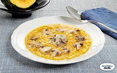 Sorprese Barilla con Parmigiano Reggiano in bagno di aceto balsamico e funghi in crema di zucca