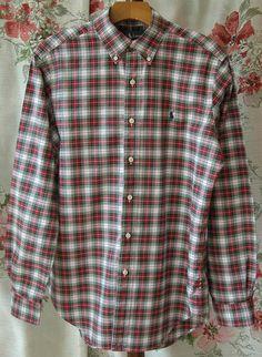80s Ralph Lauren Plaid Button Down Dress by VintageClothingandCo,