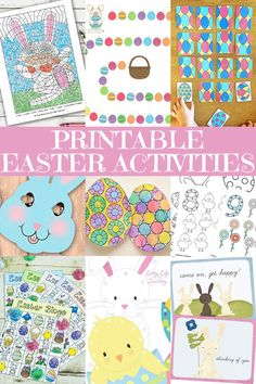 Free Printable Easter Activities for Kids. Fun for the holidays,