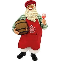 Official Wine Taster Santa Figure