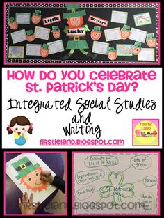 A great blog article about how to integrate your Social Studies and Writing for St. Patrick's Day! Cute Leprechaun craft!