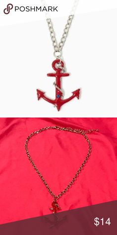EUC anchor necklace EUC anchor necklace. Very cute and is easily adjustable for different lengths. Offers are welcome in my closet :) Charming Charlie Jewelry Necklaces