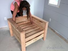 Ana White   Modern Outdoor Chair from 2x4s and 2x6s - DIY Projects