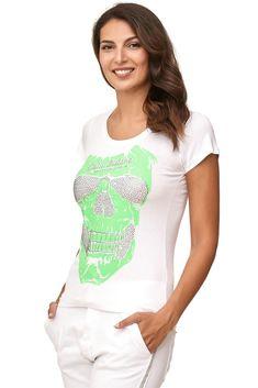 T-Shirt mit Kristallen und einem Totenkopf - 29.90 €  Produktbeschreibung:  -Modell: eng, sportlich -Muster: andere Farbe mit einem Totenkopfmotiv -size: Das Modell ist nur in Größe s verfügbar  Art des Materials:  -Material: 95% Baumwolle, 5% Elasten Waschen: Maschinenwäsche, bei einer Temperatur von 40 ° C  Hergestellt in Deutschland  #DressplanerBySchaffer #Fashion #Mode #IndependentDistributor  https://schaffer.dressplaner.com/shop/products/view/604/11
