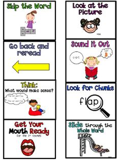 Sarah's First Grade Snippets: Reading Strategies for decoding words (freebies)