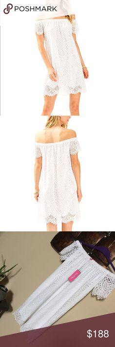 82733ff065 NWT Lilly Pulitzer Marine Tropic Lace Marble Dress Perfect for a simple  beach wedding, a