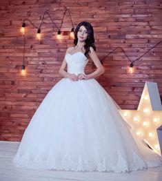 Ball gown wedding dress Crystal wedding dress by myHoneymoonDress