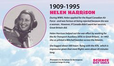 Helen Harrison was the first Canadian female pilot to fly in WWII. Not accepted by the Royal Canadian Air Force, she flew for Great Britain. Female Pilot, Great Britain, Wwii, Effort, Air Force, How To Apply, Science, Math, Women