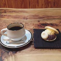 珈琲と和菓子。 #京都 #cafe #和菓子