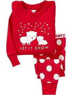 """Let It Snow"" PJ Sets for Baby 