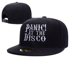 Panic At The Disco Band Logo Adjustable Snapback Embroidery Hats Caps