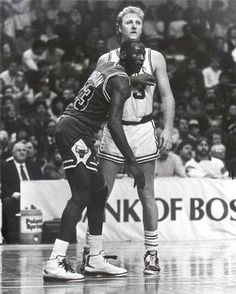 NBA old school.  Hard to top these days of the League...