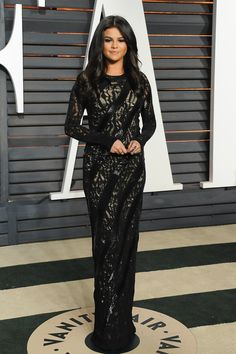 Selena Gomez at the Vanity Fair Oscars afterparty