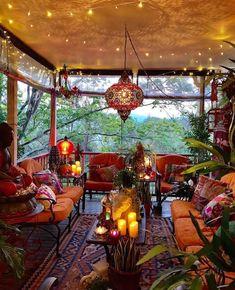 Boho Style Decoration - Boho Style Decoration Bohemian house design, boho design, house for hippie people Bohemian House, Bohemian Patio, Bohemian Living, Bohemian Decor, Boho Gypsy, Bohemian Style Rooms, Bohemian Interior Design, French Bohemian, Bohemian Clothing