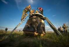 Our capsule remained upside right… actually makes the extraction work a bit harder for crew & rescuers. #JourneyBack