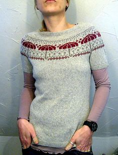 beautiful fair isle by Joji Locatelli on Ravelry; this version knitted by lilalu Love the umbrellas