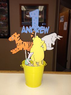 Handmade Classic Winnie the Pooh Party Centerpiece Pooh Piglet Eeyore Tigger on Etsy, $30.00