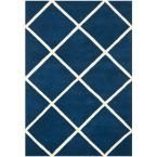 Chatham Dark Blue/Ivory 6 ft. x 9 ft. Area Rug