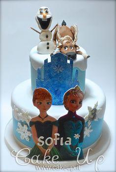 FROZEN CAKE ( ANNA & ELSA INCORONAZIONE )