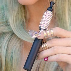 Leather Lux Vape Pen with Swarovski bling tank by The Crystal Cult