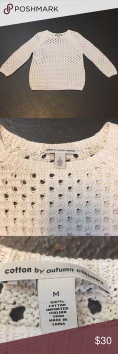 Autumn cashmere cotton size Med Autumn cashmere cotton size Med preowned Autumn Cashmere Sweaters Crew & Scoop Necks
