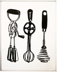 {Gifts for Cooks} 15 great kitchen prints hand picked by Apartment Therapy ...I especially love this hand tool print.