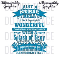 Digital File - Just A Nurse with svg, dxf, png and eps Commercial & Personal Use