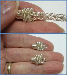 Viking Knit Bracelet Tutorial I have seen. Also directions for a wire end cap. From - very niceBest Viking Knit Bracelet Tutorial I have seen. Also directions for a wire end cap. From - very nice Wire Crafts, Jewelry Crafts, Handmade Jewelry, Earrings Handmade, Wire Wrapped Jewelry, Metal Jewelry, Jewlery, Antler Jewelry, Jewelry Tree