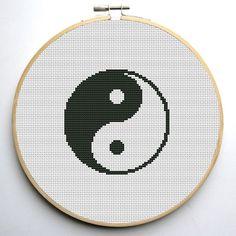 Cross stitch pattern PDF Chinese Tao Symbol Instant Download