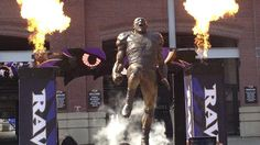 Ray Lewis statue unveiled outside M&T Bank Stadium 9/04/2014...