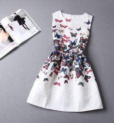 Fashion Jacquard Printed Sleeveless Dress