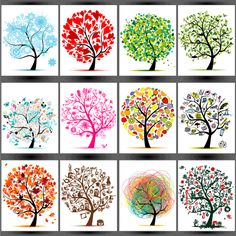 Easy to draw tree Funny Drawings, Disney Drawings, Easy Drawings, Tree Stencil, Art Plastique, Tree Art, Rock Art, Diy Art, Painted Rocks