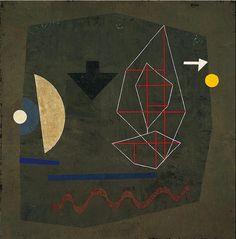 Paul Klee (Swiss: 1879-1940), Possibilities at sea, 1932. Encaustic and sand on canvas, 97.2 x 95.6 cm, Norton Simon Museum.