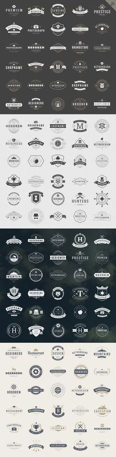 Vintage Logotypes and Badges