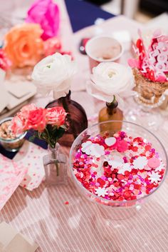 Love Letter Station. Confetti, Glitter, Fresh Flowers, PAper flowers. GALENTINE'S DAY WORKSHOP. Paper flower crowns. The Party Concierge in Philadelphia. Event Planning, Party Coordination, Graduation Party, Wedding, Bridal Shower, Baby Shower, Birthday Party, Anniversary, Date Night, Dinner Party