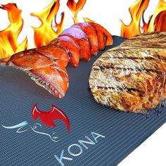 Grill Mats: A great idea when vegetarians are sharing the grill with meat eaters; just lay this grill mat over the existing grates!KONA Best BBQ Grill Mat - Heavy Duty 600 Degree Non-Stick Mats (Set of - 7 Year Warranty. Kona Grill, Bbq Grill, Grill Oven, Grill Sale, Grill Grates, Weber Grill, Bulthaup Kitchen, Grill Basket, Bbq Gifts