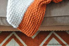 Make a Knit Throw using a Knitting Loom