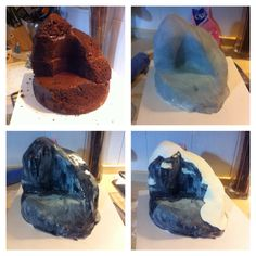 Frozen's North Mountain in progress- my cake for A's 4th birthday