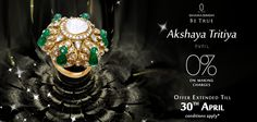 Owing to the overwhelming response, we continue to bask on this ‪#‎OccasionToBeTrue‬ and extend our offer of 10% off on scintillating diamond jewellery till 30th April! ‪#‎Jewellery‬ ‪#‎AkshayaTritaya #diamonds #Shopping