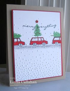 Shop for Stampin' Up! Learn how to create simple & pretty cards. Daily card ideas, paper crafting tips, stamping videos & tutorials. Stamped Christmas Cards, Christmas Stencils, Christmas Mom, Christmas Cards To Make, Christmas Greeting Cards, Christmas Greetings, Handmade Christmas, Holiday Cards, White Christmas