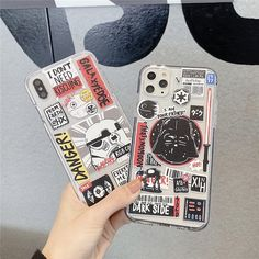 classic fashion movie Star war Doodle label for iphone 11 Pro X XS MAX Diy Phone Case Design, Aesthetic Phone Case, Diy Case, Iphone 7 Plus, Cute Phone Cases, Iphone Photography, Iphone Case Covers, Mobiles, Star Wars