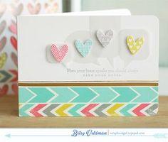 Heart Talks Card by Betsy Veldman for Papertrey Ink (December 2013)
