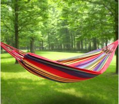 Perfect for summer! Portable Camping Hanging Hammock, Heavy Duty - A Thrifty Mom