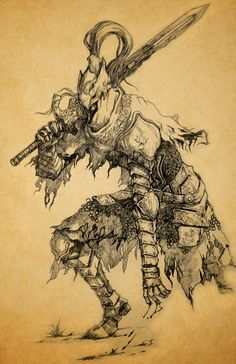This is my favorite boss and tale in Dark Souls ... I'm sorry for the inaccuracy on some parts..